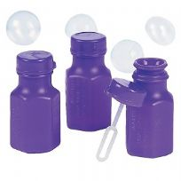 Mini Purple Hexagon Bubbles (48)